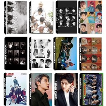 цена на 30Pcs/set KPOP EXO Team 11 Album Universe The War Collection HD Photo Card PVC Cards Self Made LOMO Card Photocard