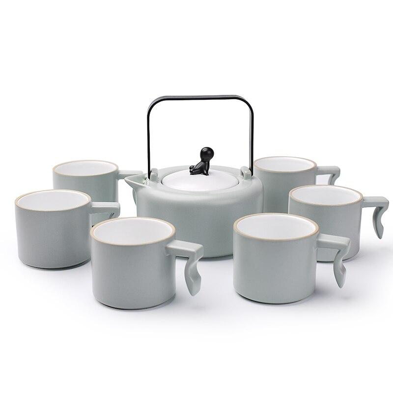 YIPINCI poterie 410 ml théière théière japon pot thé, théière traditionnelle chinoise, théière avec poignée en métal