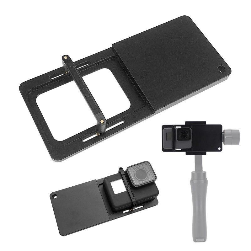 Handheld Gimbal Adapter Switch Mount Plate for GoPro Hero 7 6 5 4 3 Yi 4K Sjcam Camera for DJI Osmo Zhiyun Smooth Q Mobile