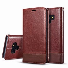 Classic Vintage Crazy Horse Wallet Case For Samsung Galaxy Note 9 8 Cover Magnetic Flip Pouch Kickstand+Card Slot Pocket