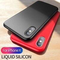 Msvii для IPhone X Силиконовый чехол оригинальный роскошный противоударный чехол для iPhone 10 тонкий жидкости силиконовая крышка для iphonex