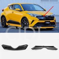 Car styling Auto Exterior Accessories Carbon fiber trim Front Grille Cover Trim Decoration Auto For TOYOTA C HR CHR 2017 2018