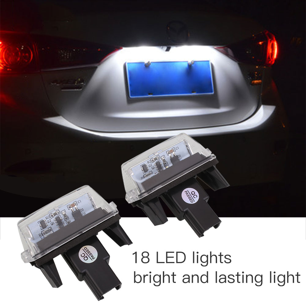 Vehemo 2Pcs 18LED Beads Car Auto License Plate Light For Toyota Yaris 2012 Camry 2013 special car trunk mats for toyota all models corolla camry rav4 auris prius yalis avensis 2014 accessories car styling auto