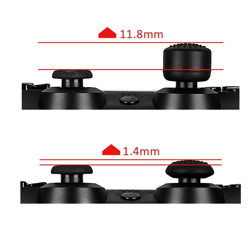 Silicone Housing Shell Skin + Rocker Cap Grip Cover Stick Set Replacement Parts For Dualshock 4 / PS4 / PS4 Pro Controller Case