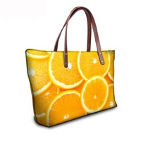 Noisydesigns 2018 fashion girls ladies famous brand designer shoulder bags women handbag hologram fruits large shopper bag