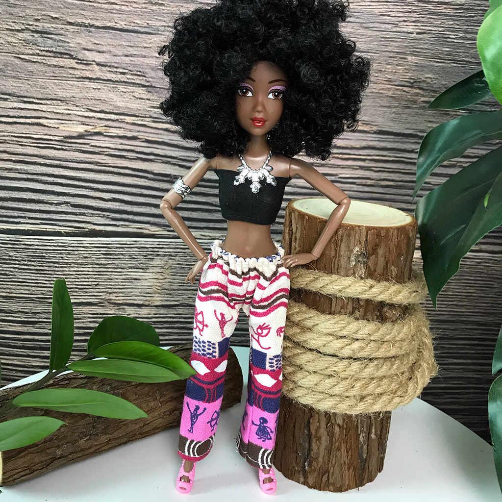 Детские подвижные шарнирные африканские куклы, черная кукла, лучший подарок для детей, девочек, Playmate Boneca Menina, детские куклы, игрушки для девочек