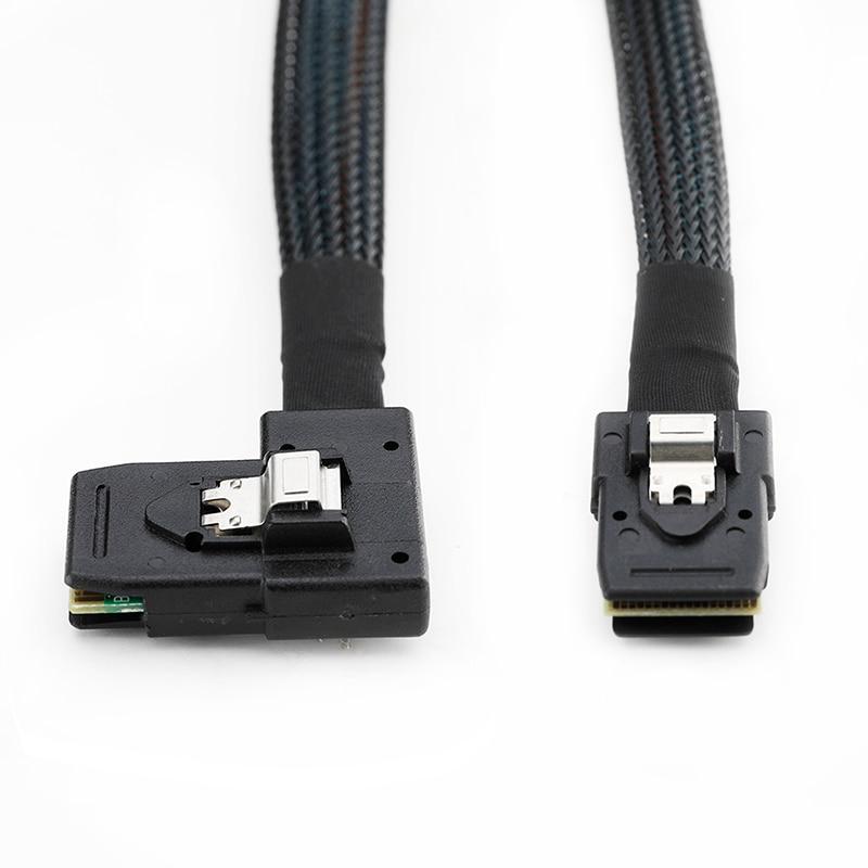 Black CableDeconn 0.7M Internal Mini SAS 36-Pin To SFF-8087 Cable Cavi
