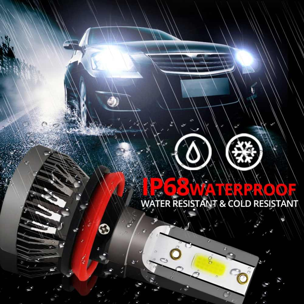 AVACOM h7 led h4 motorcycle headlight 6500k 12V 30W led for motorcycle bulb 8000LM COB  H1/H7/H8/H9/H11/9005/9006 Auto Fog Lamps