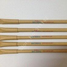 Красивые рециркулированная бумага Шариковая ручка craft шариковая ручка 1000 шт в наборе, печать логотипа