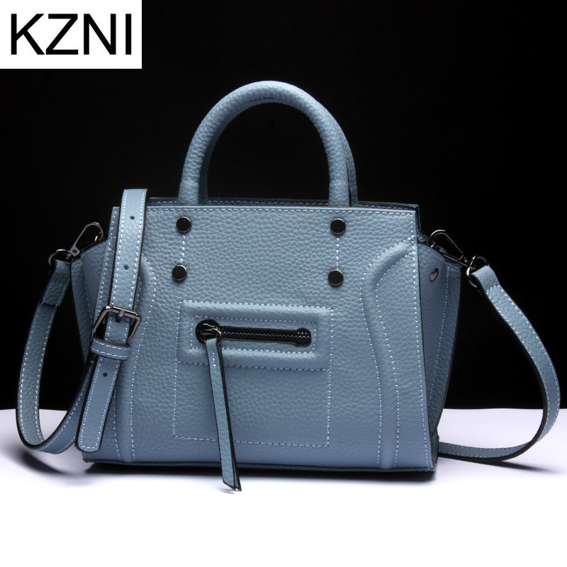 KZNI genuine leather crossbody bags for women designer handbags high quality women messenger bags bolsas femininas L121802