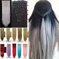 1 Компл. Клип На Наращивание Волос 66 см 26 inch 8 шт./компл. Природных Шиньоны Волосы StyleStraight Синтетический Зажим В Волосах расширения