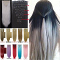 1Set Clip On Hair Extension 66cm 26inch 8pcs/set Natural Hairpieces Hair StyleStraight Synthetic Clip In Hair Extensions