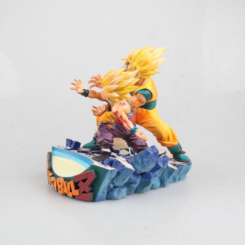 HKXZM Anime 17 CM Dragon Ball Z Super Saiyan fils Goku & Gohan père et fils Kamehameha PVC Figure de collection modèle jouet cadeau - 2