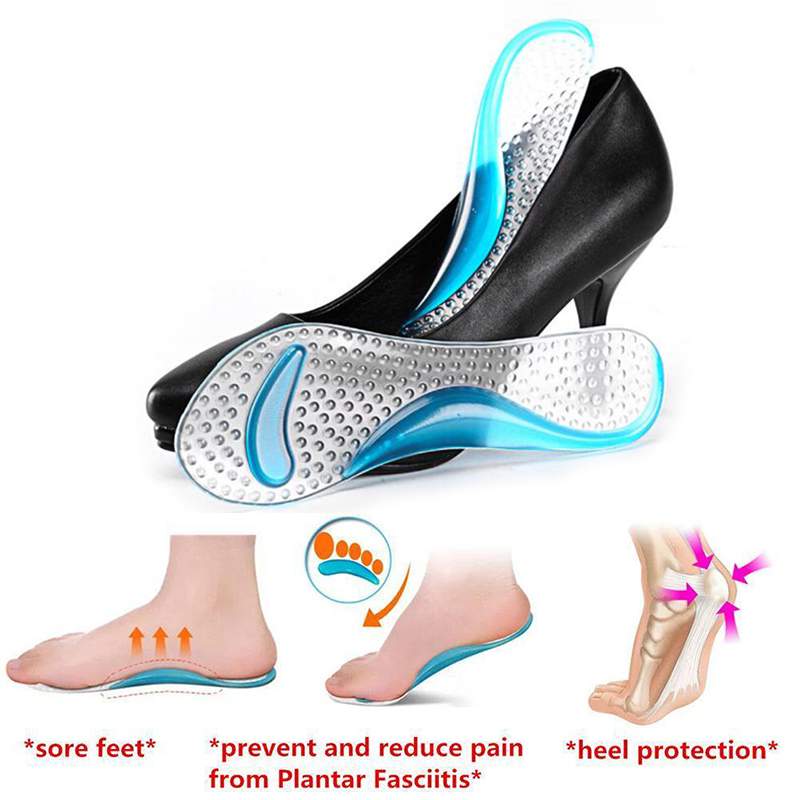 Womens Gel 3/4 length Arch Support Anti-slip Massaging Metatarsal Cushion Orthopedic Insoles for High Heels Shoes Sandals G0090