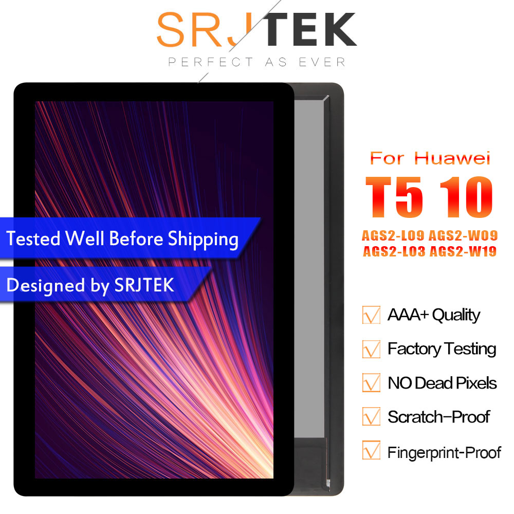 """SRJTEK 10.1"""" For Huawei MediaPad T5 10 LCD AGS2 L09 AGS2 W09 AGS2 L03 AGS2 W19 Display Matrix Touch Screen Digitizer Assembly-in Tablet LCDs & Panels from Computer & Office    1"""