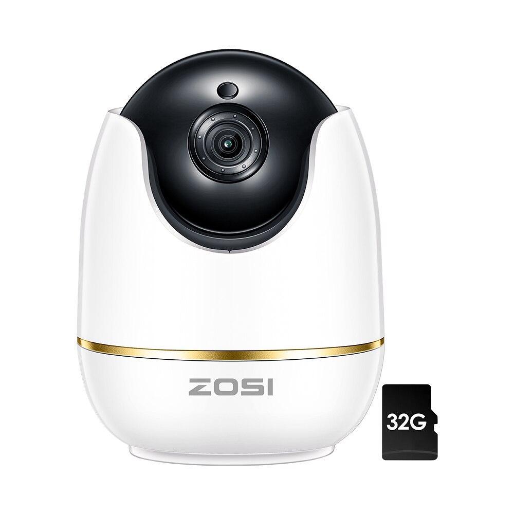 ZOSI IP купольная Камера 2MP 1080P HD панорамирования/наклона/зум Беспроводной Wifi видеонаблюдения Системы, двухстороннее аудио, Детские/няня/Pet мон...