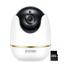 ZOSI cámara domo IP 2MP 1080p HD Pan/Tilt/Zoom sistema de vigilancia de seguridad Wifi inalámbrico, Audio bidireccional, Monitor para bebés/niñera/mascotas