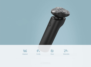 Image 5 - Xiaomi Mijia חשמלי מכונת גילוח S500 IPX7 עמיד למים גברים זקן גילוח 3 ראש יבש רטוב כפולה להב קומפי נקי עם LED תצוגה