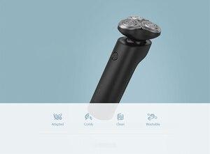 Image 5 - Xiaomi Norma Mijia Rasoio Elettrico S500 IPX7 Impermeabile Uomini Rasoio Barba Trimmer 3 Testa Asciutto Bagnato A Doppia Lama Comfy Pulire Con display A LED