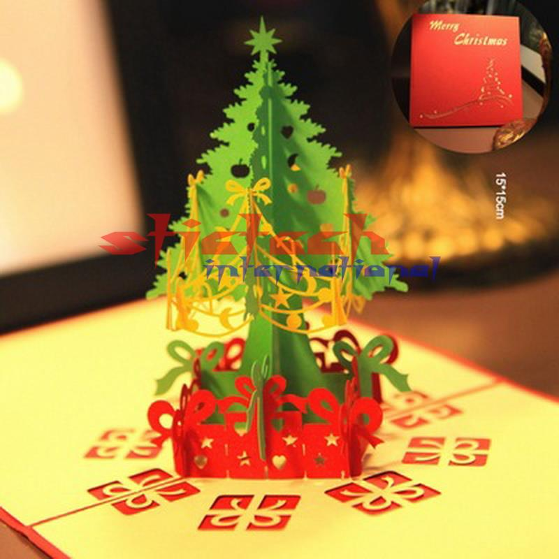 Custom Christmas Cards.Us 2000 0 By Dhl Or Ems 1400pcs Merry Christmas Tree Postcard Paper Handmade Custom Greeting Cards In Hammocks From Furniture On Aliexpress Com