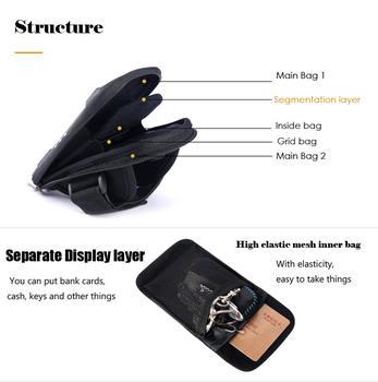 Waterproof Unisex Reflective Running Bag Phone Case Cover Sport Armband Wrist Bag Cycling Hiking Fitness Wristlet Pouch 2