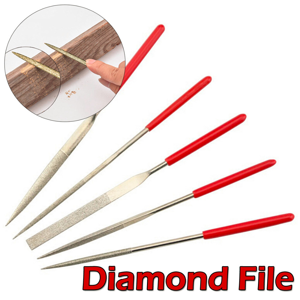 Mini File Set 5pcs/set Wood Rasp Files Needle Carving Tools Metal Filing Tool Woodworking DIY Folder Hobby Hand Tool
