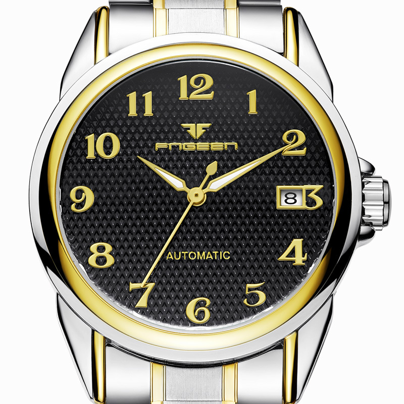 Image 5 - Digital Luminous Men Mechanical Watches Business Automatic Movement Flying Gyro Technology Waterproof Wristwatch FNGEEN 8806G-in Mechanical Watches from Watches on AliExpress