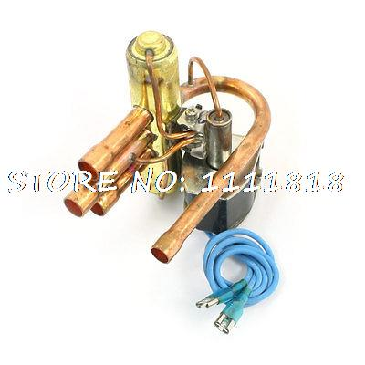 8mm 9.7mm Dia Tube 4-Way Heat Pump Reversing Valve Solenoid for 1P Air Condition high quality ac 220v 50 60hz 4 way 3mpa heat pump reversing solenoid valve for air condition free shipping