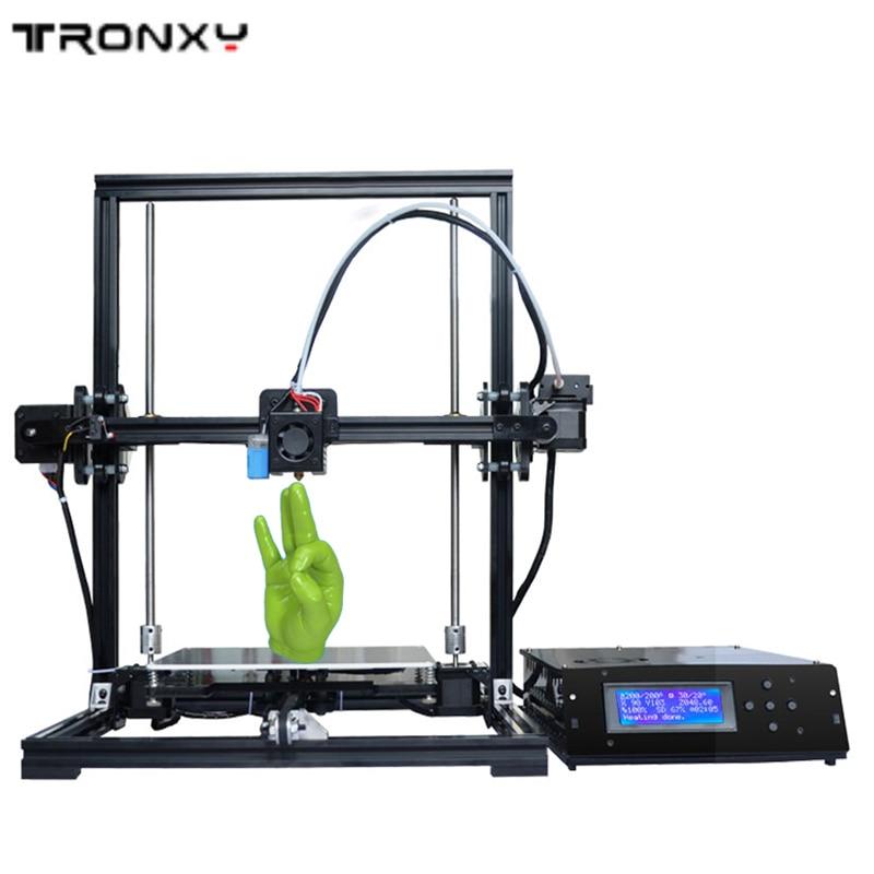 Venta caliente Tronxy Impresora 3D DIY kit de Auto Nivelación Estructura De Alum
