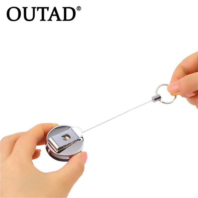 Pulling The Chain Cool OUTAD 60pcs Tool Belt Money Retractable Key Recoil Ring Pull Chain