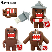 Cartoon Pen Drive 64GB Japanese Domo Kun Girl Lovely Creative USB Flash Drive 4GB 8GB 16GB 32GB USB Flash Memoria Stick Disk