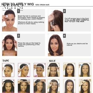 """Image 5 - Neitsi 스트레이트 레이스 프론트 인간의 머리 가발 100% 레미 헤어 14 """"16"""" 18 """"20"""" 22 """"자연 블랙 컬러 150% 밀도 자연 헤어 라인"""