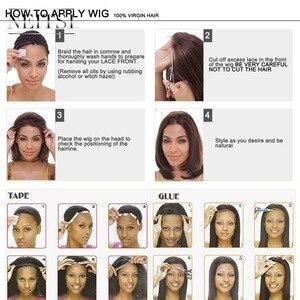 """Image 5 - Neitsi prosto koronki przodu włosów ludzkich peruk 100% Remy włosy 14 """"16"""" 18 """"20"""" 22 """"naturalny czarny kolor 150% gęstości naturalną linią włosów"""