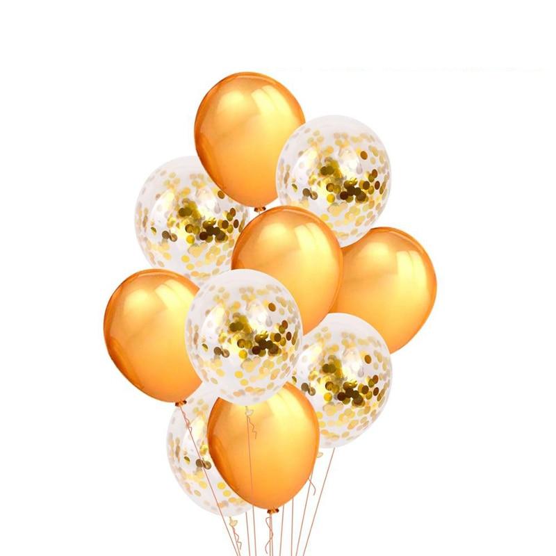 2018 Confetti Ballon Boeket Goud Opblazen Latex Onyx ballonnen - Feestversiering en feestartikelen