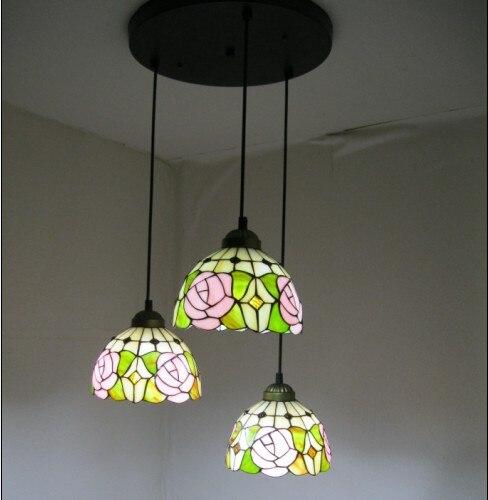 Işıklar ve Aydınlatma'ten Kolye ışıkları'de Tiffany asma lamba yatak odası yemek ışığı title=
