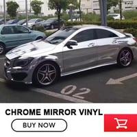 Premium Stretchable Silver Mirror Chrome Vinyl Wrap Car Wrapping Chrome Mirror Film Chrome Size 1 52