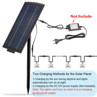 DC12V 8W Electricity Chargeable / Solar Powered Panel for FVTLED Deck Lights Outdoor Lamp