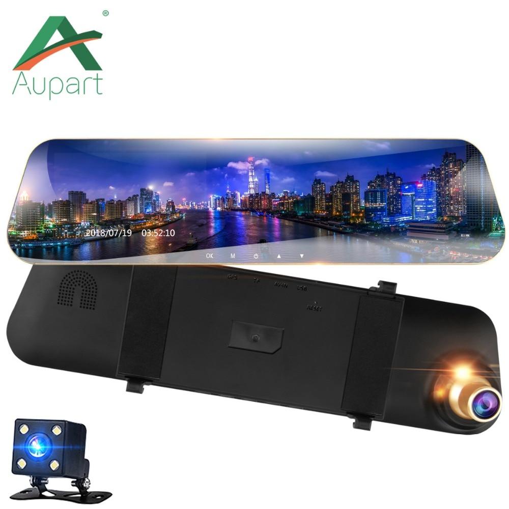 """Видеорегистраторы для автомобилей двойные линзы видео 4,3 """"1080 P Регистраторы Автостоянка Камера регистраторы Full HD 1080p Авто черный камера-видеорегистратор светодио дный Дисплей"""