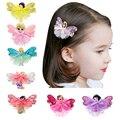 1pcs Cute Baby Girl Flower Hair Clip Cartoon Images Hair Pins Girl Princess Mini Dress Hairgrip Baby Kids Hair Accessories BM-3