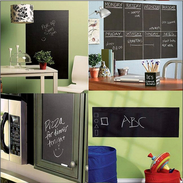 1pc chalkboard black board sticker school office meeting chalk board