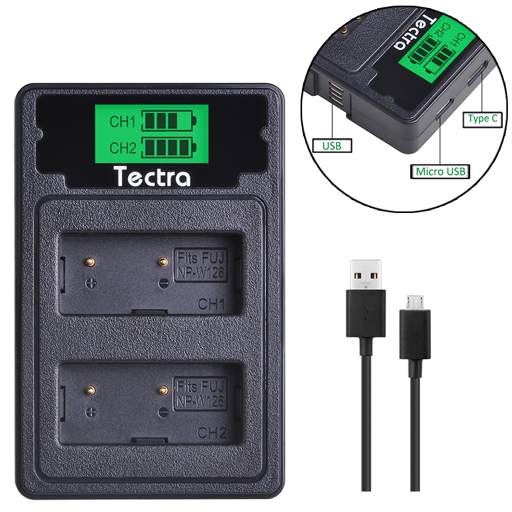 NP W126 NP W126 NPW126 Battery Charger LCD Type C Dual Charger for Fujifilm Fuji X Pro1 XPro1 X T1 XT1  HS30EXR HS33EXR X PRO1|Chargers| |  - title=