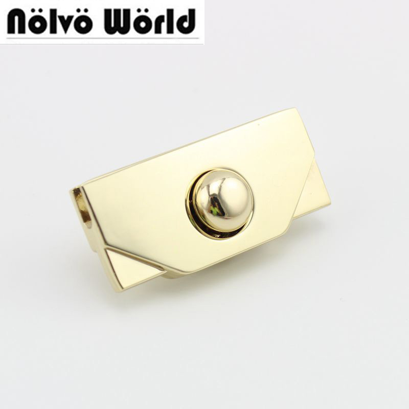 20sets 10sets  Leather Bags Handbags Metal Locks Pushed,Making Your Own Bags' Lock Snap Clasps