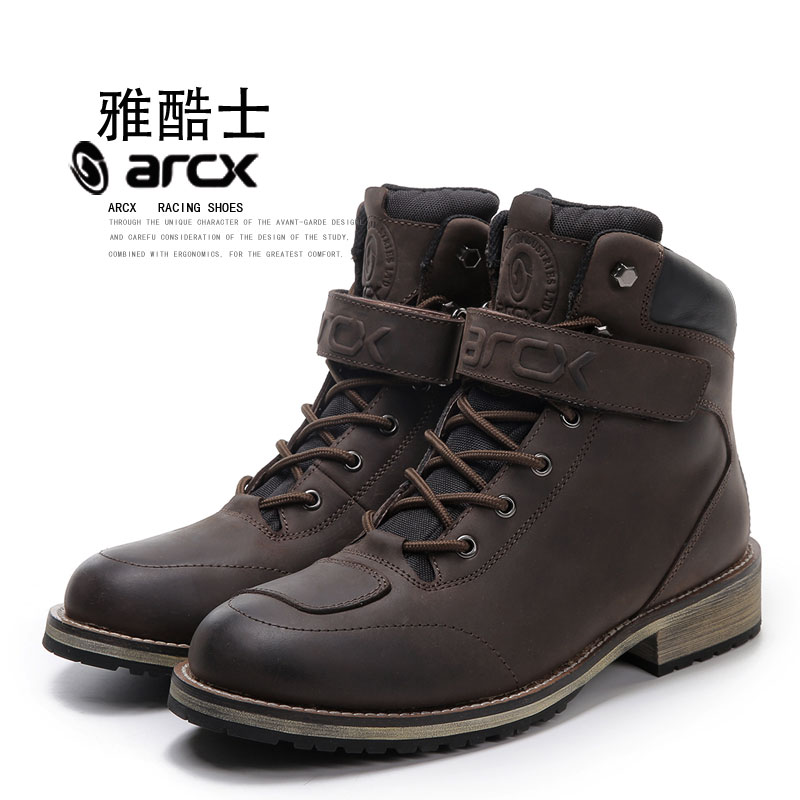 Fashion ARCX Real Leather Motorcycle Boots Warm Waterproof Leisure Shoescasual Motos Boats Motorbike Touring Boots