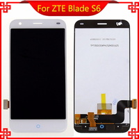 Display lcd de tela de toque de alta qualidade para zte blade s6 hd 1280x720 5.0 polegada de substituição para zte blade s6 celular branco