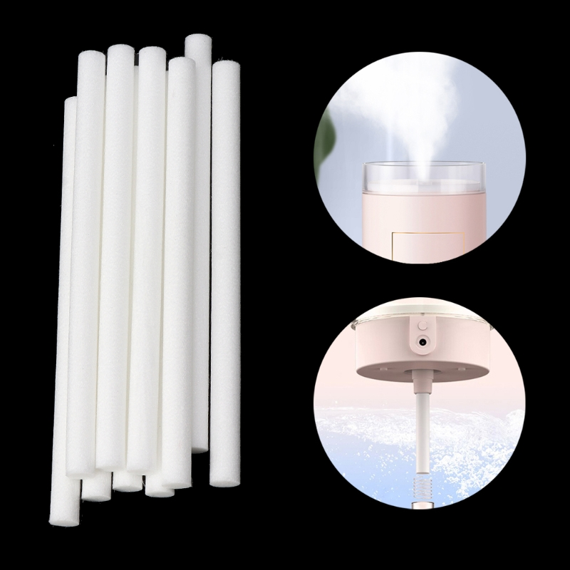 10Pcs 8 Sizes Humidifiers Filters Cotton Swab For Humidifier Aroma Diffuser 7mmx115mm 8mmx120mm 8mmx130mm 10mmx170mm