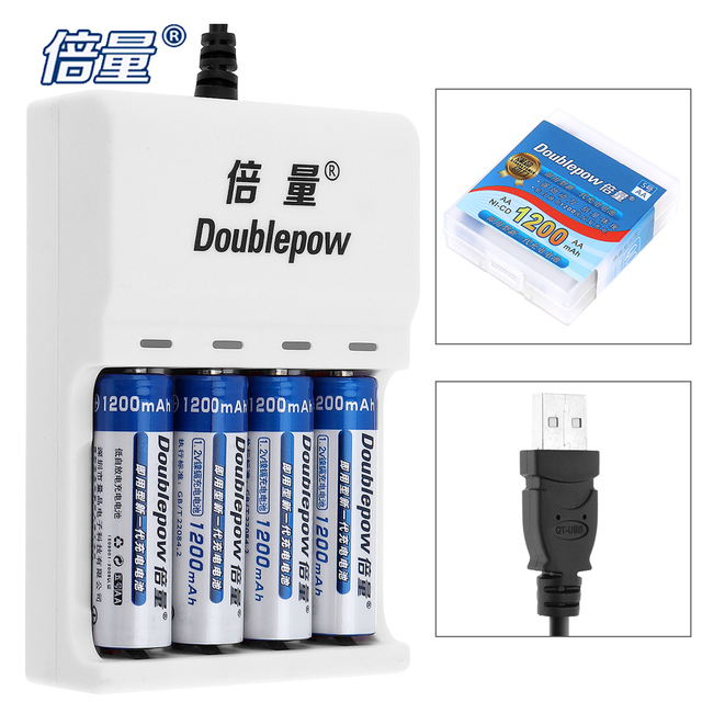 4pcs doublepow 1200mah ni cd aa rechargeable battery 4 slots aa rh aliexpress com 9 Volt Rechargeable NiCd Battery NIMH Battery Charger 7.2V