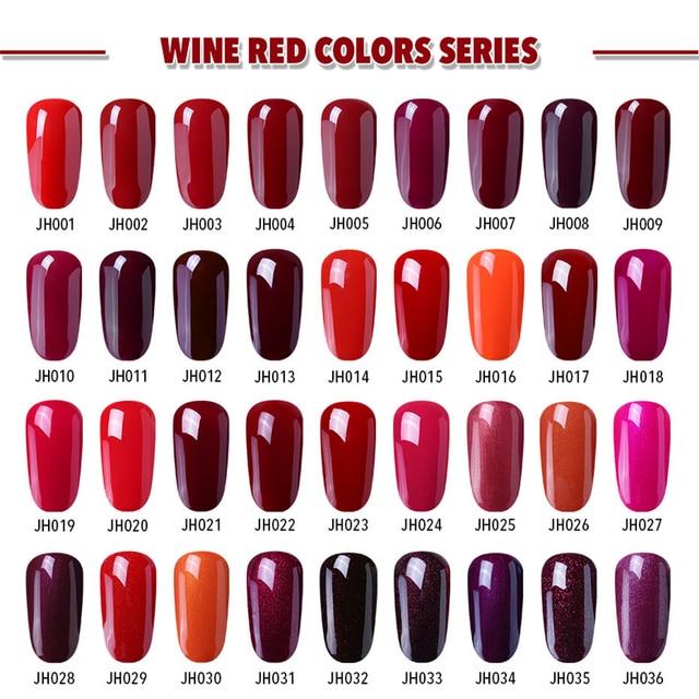 Elite99 Wein Rot Gel Nagellack Gel-Lack Semi Permanent Tränken Weg Nail art Design Maniküre UV Gel Nägel Polieren lack