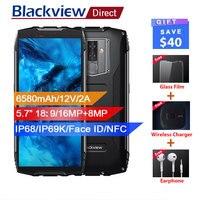 Blackview BV6800 Pro Водонепроницаемый смартфон с IP68 4G B + 6 4G B 5,7 18:9 4G мобильный телефон 16MP Android 8,0 6580 мАч NFC Беспроводной зарядное устройство