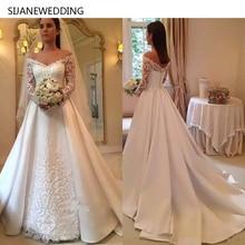 SIJANEWEDDING SIJANE Long Sleeves A-line Wedding Dresses