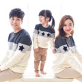 2017 Family Clothing Family Look Mother Father Baby Cotton T Shirts Mommy and Me Clothes Embroidery Star Family Matching Outfits
